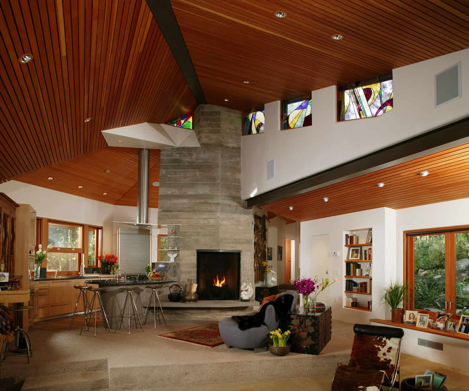 contemporary-asian-great-room-fireplace