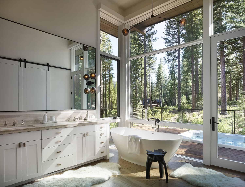kupaonica u suvremenom planinskom stilu