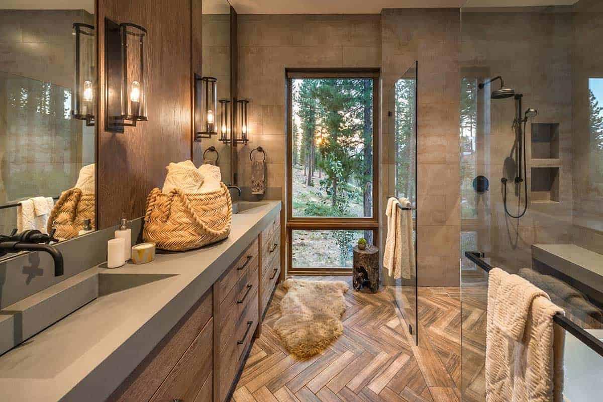 moderno-rustikalno-planinarskom stilu kupaonica