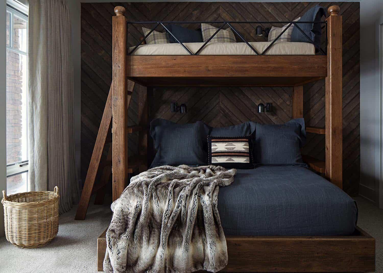 rustikalna-djeca-spavaća soba na kat