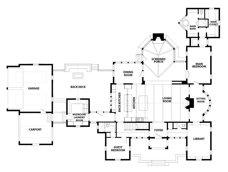 planinska-moderna-seoska kuća-tlocrt