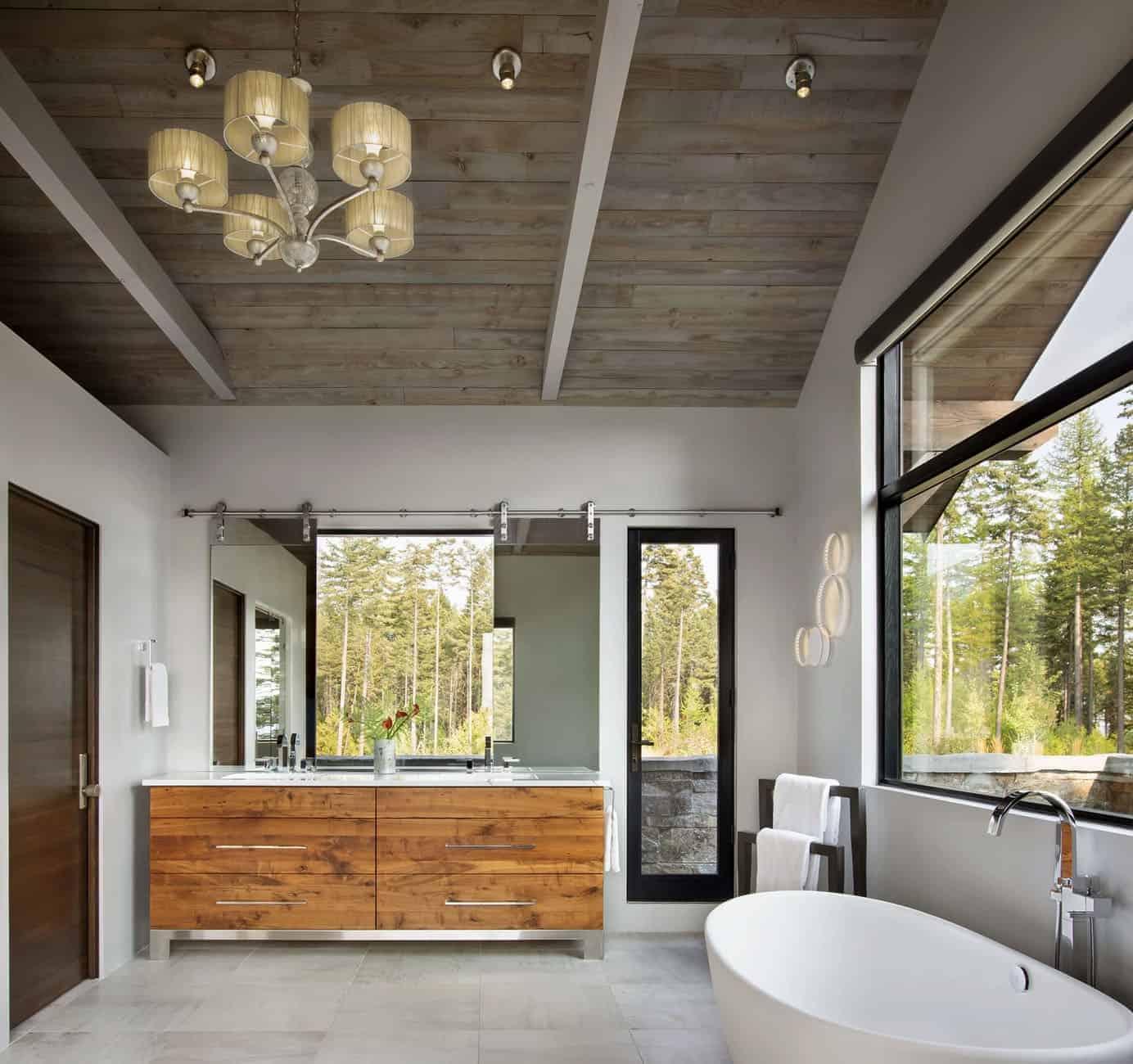 kupaonica u planinskom modernom stilu