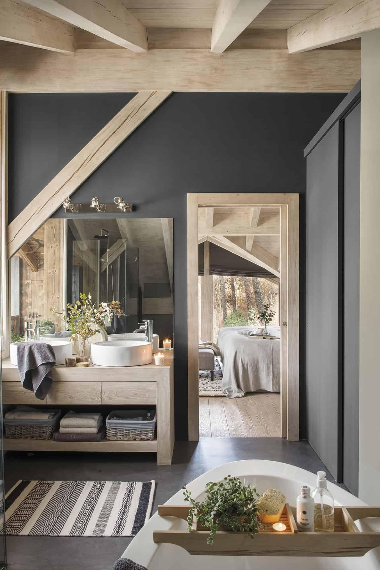 kupaonica u stilu nordijske brvnare