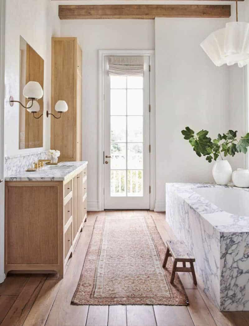kupaonica u stilu rustikalne seoske kuće