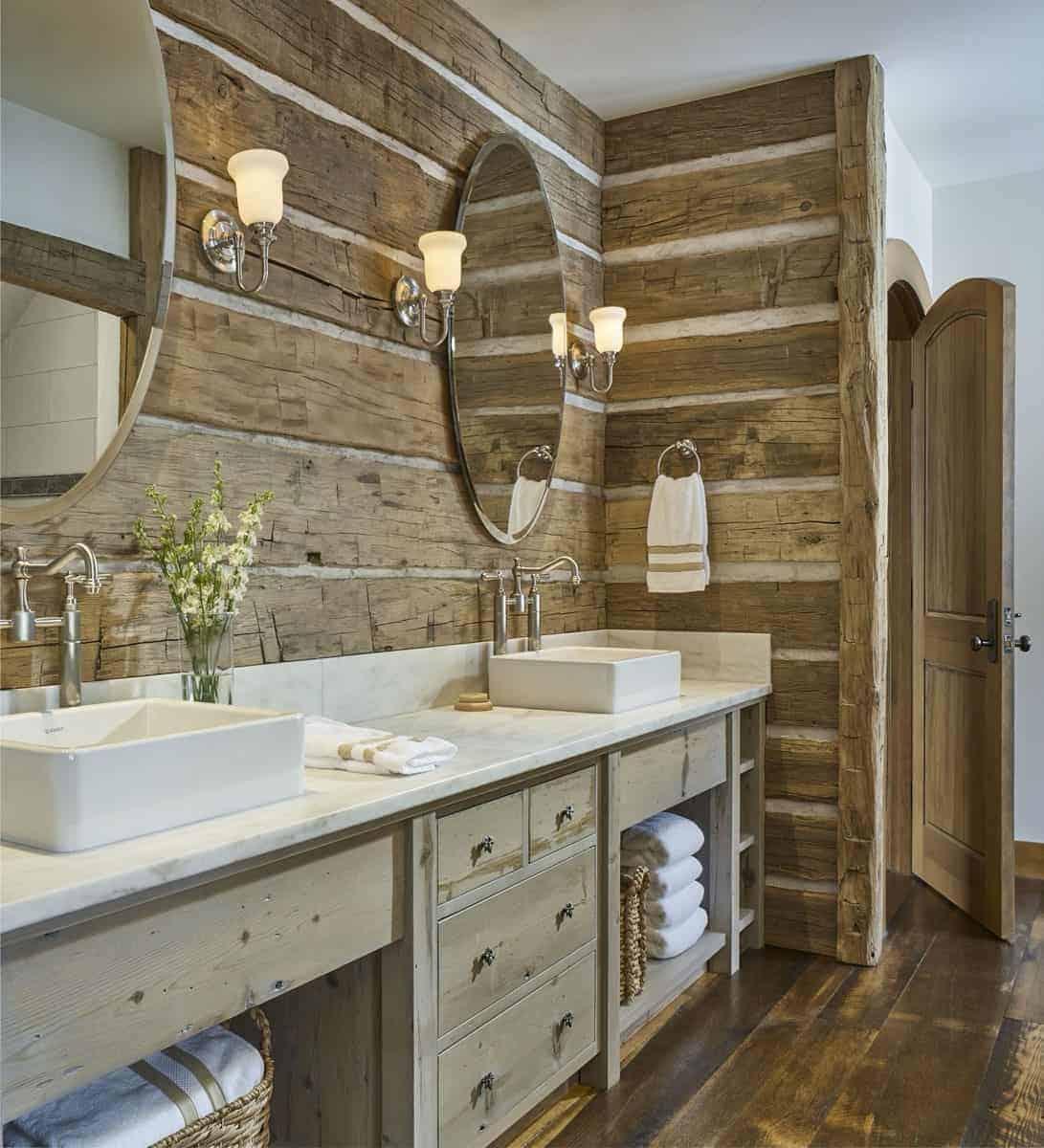 rustikalno-ručno izrađena kupaonica