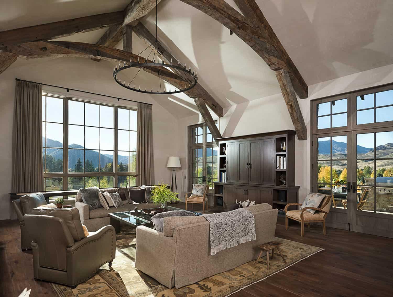 rustikalno-moderna-dnevna soba