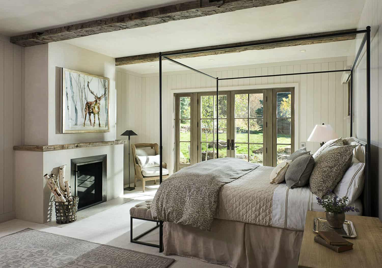 rustikalno-moderno uređena spavaća soba