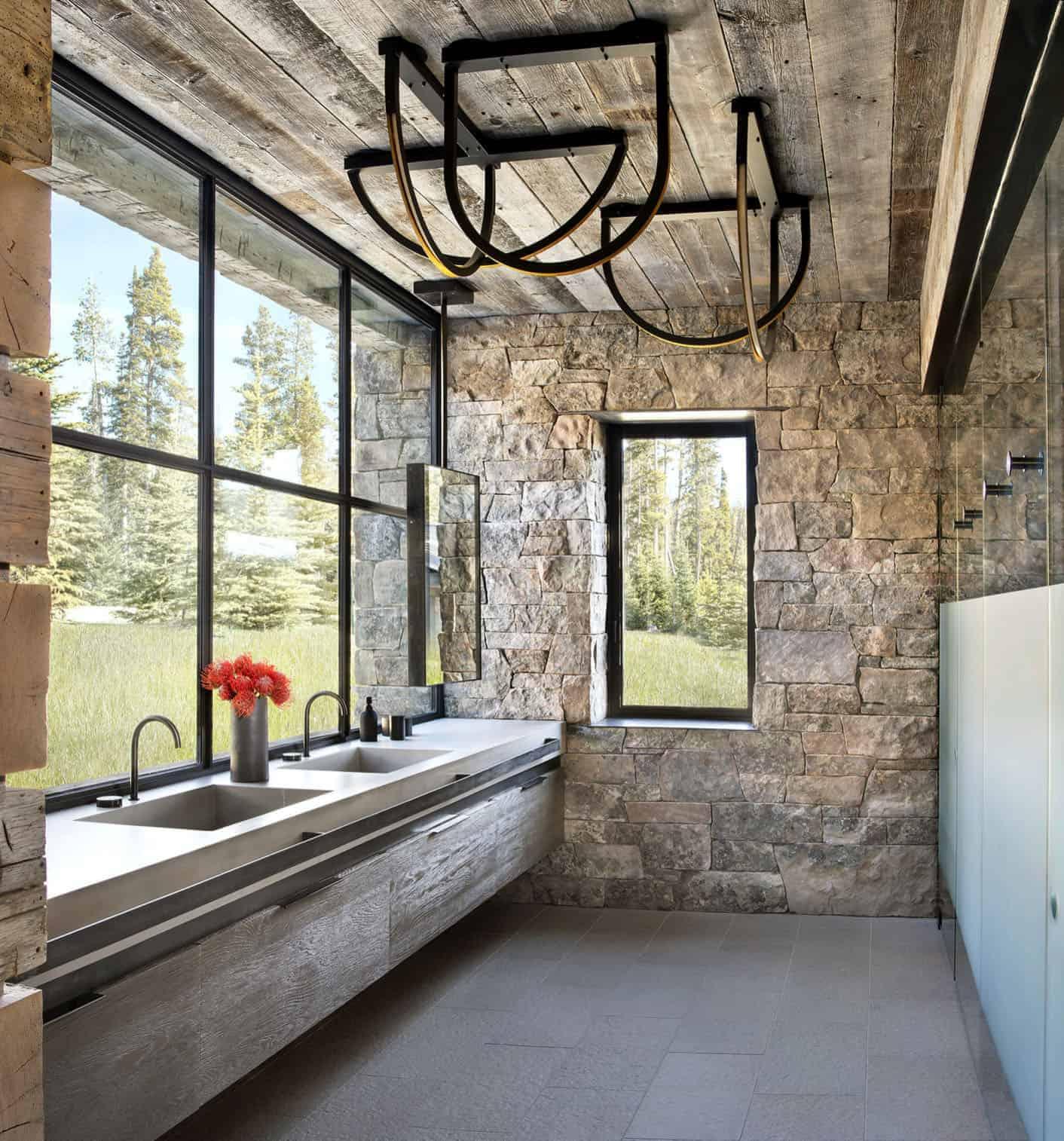 kupaonica u rustikalno-planinskom stilu