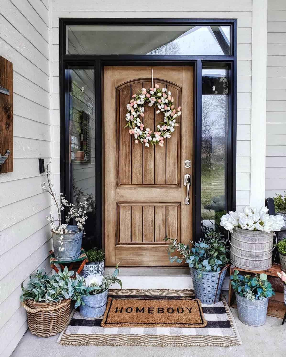 rustic-front-porch-with-plants