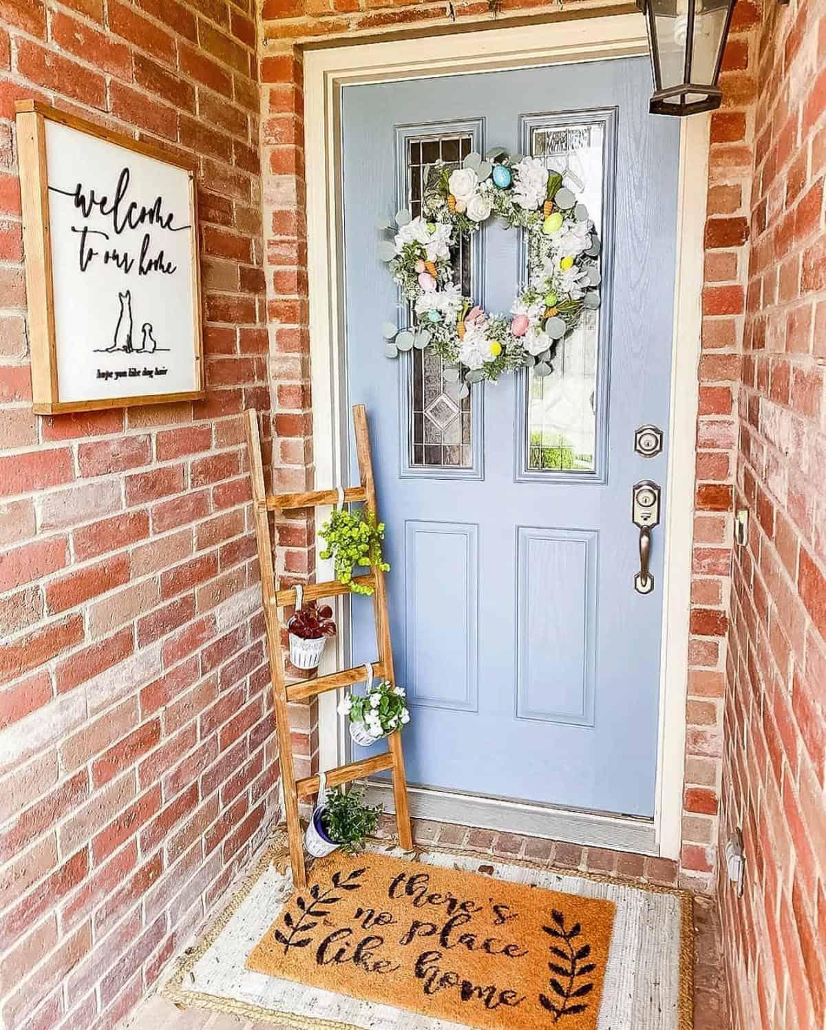 springtime-front-porch-blue-door