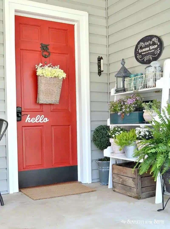 welcoming-spring-porch-red-front-door