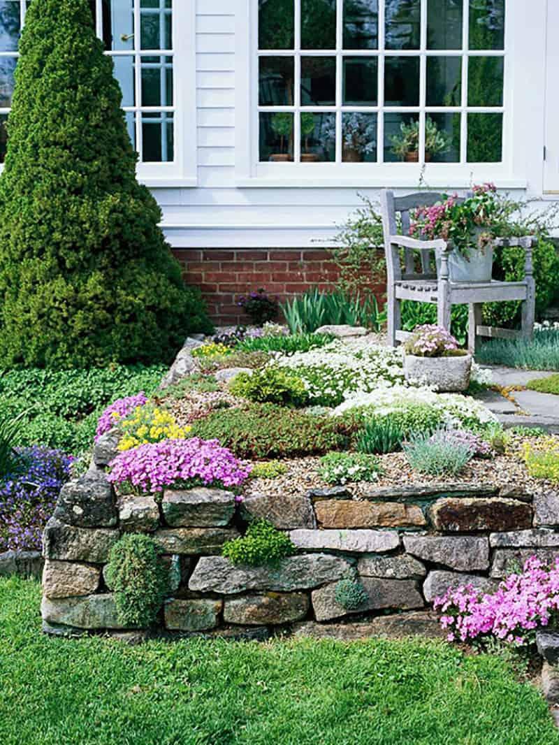front-yard-rock-garden