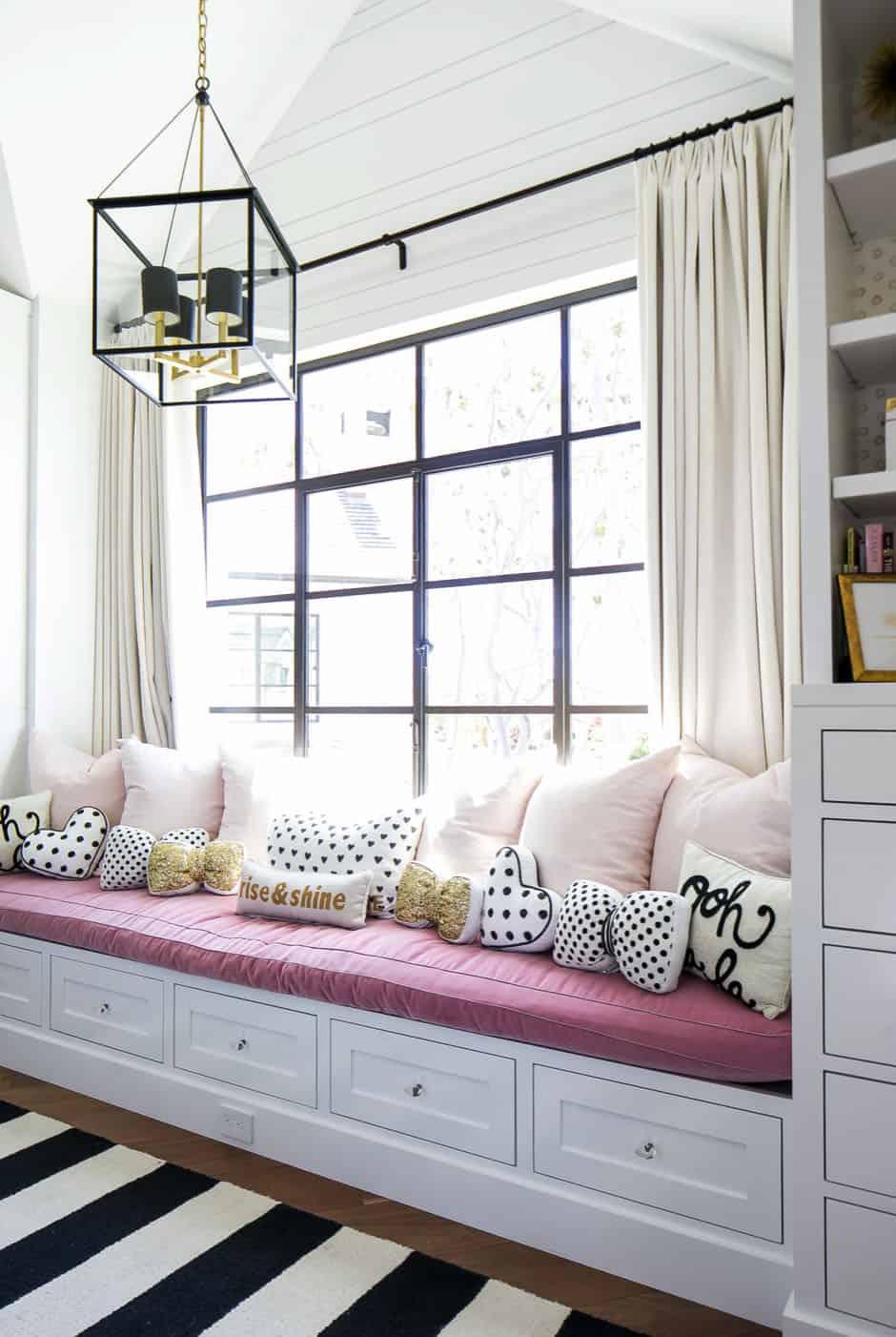 sredina stoljeća-moderna-dječja-spavaća soba-prozor-sjedalo