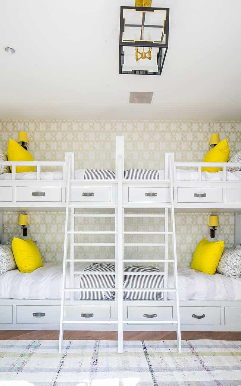 srednja vijek-moderna-djeca-spavaća soba na kat
