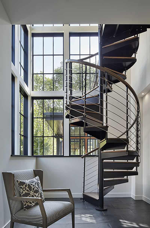 moderno-mediteransko-spiralno stubište