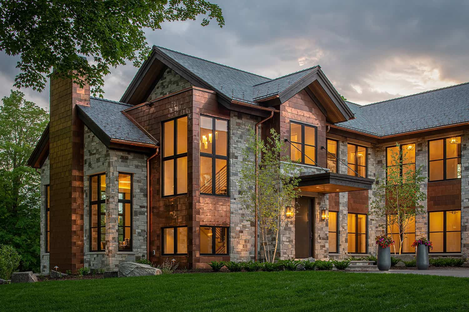 Astounding mountain-inspired home with modern rustic details in Midwest