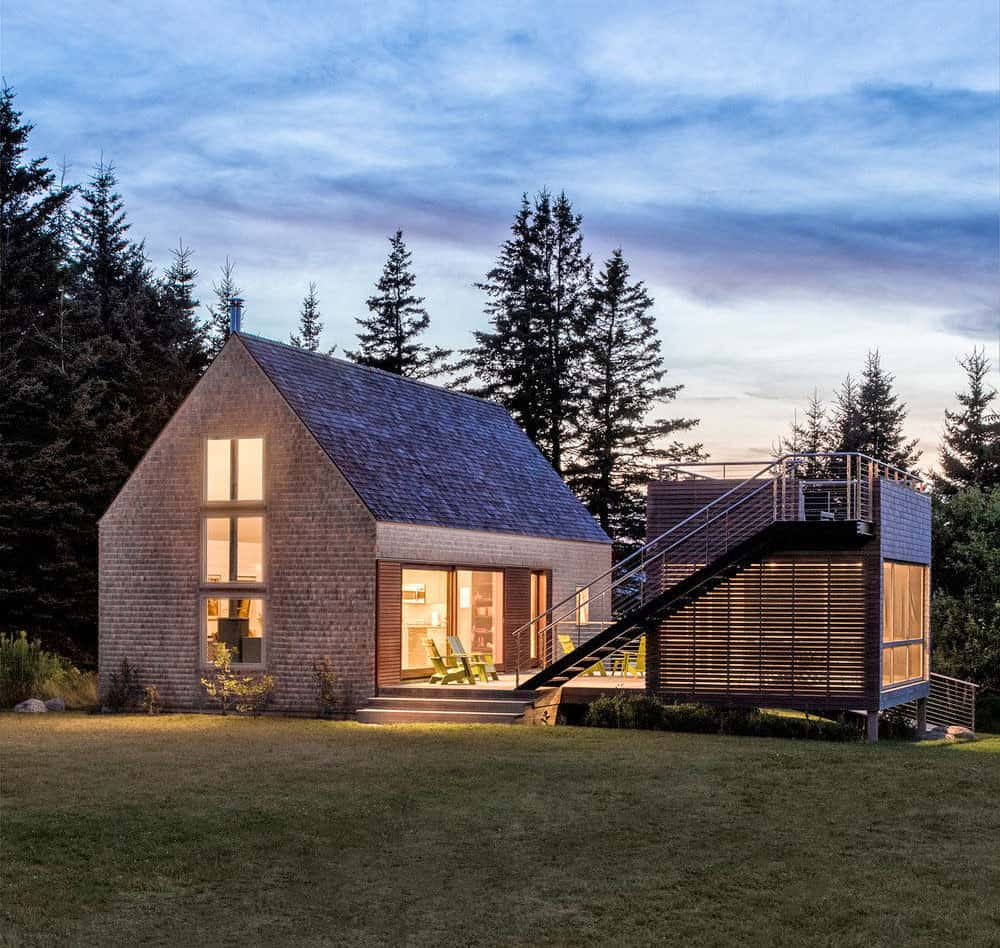 Modern interpretation of New England farmhouse vernacular