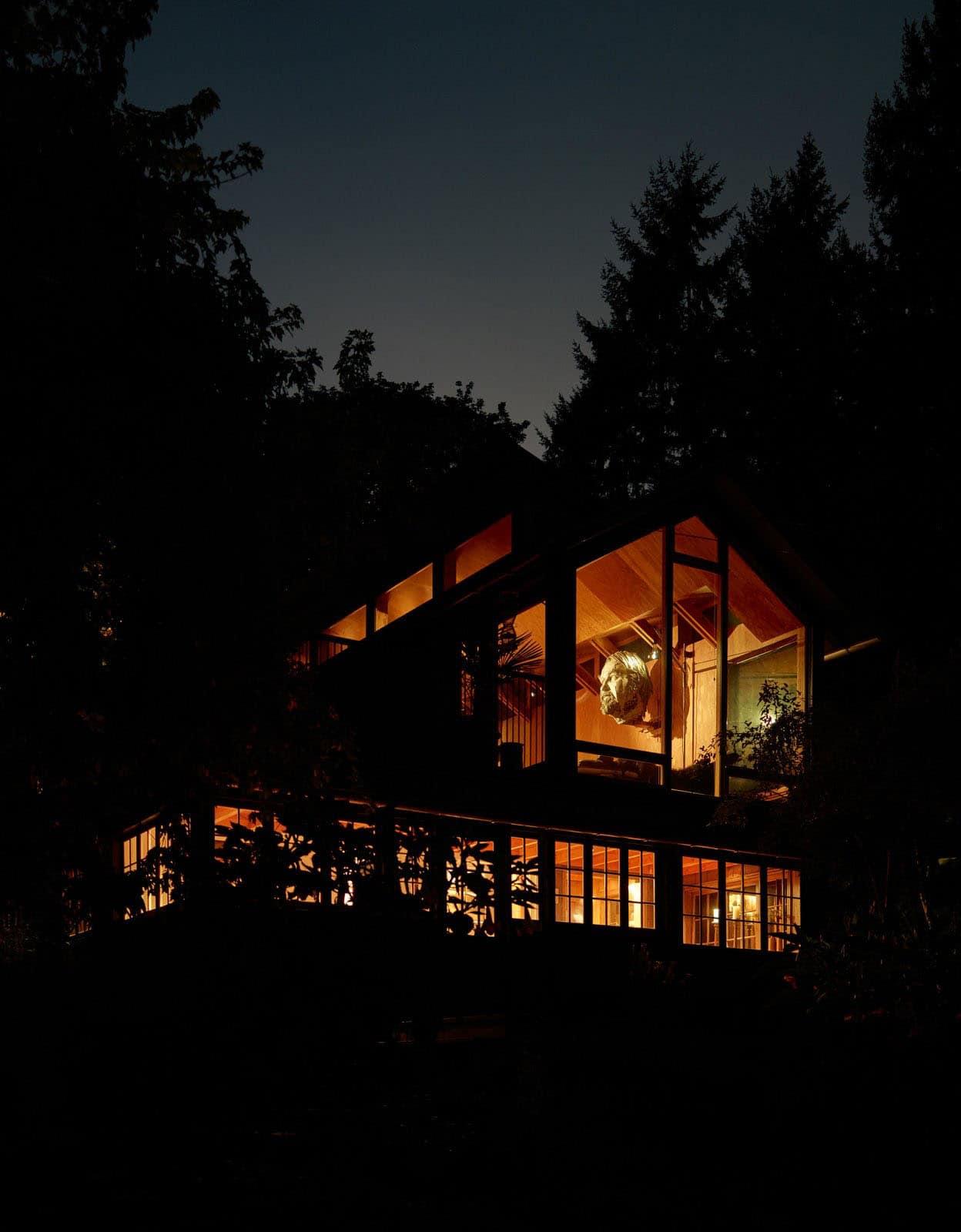 renovated-cabin-retreat-exterior-night