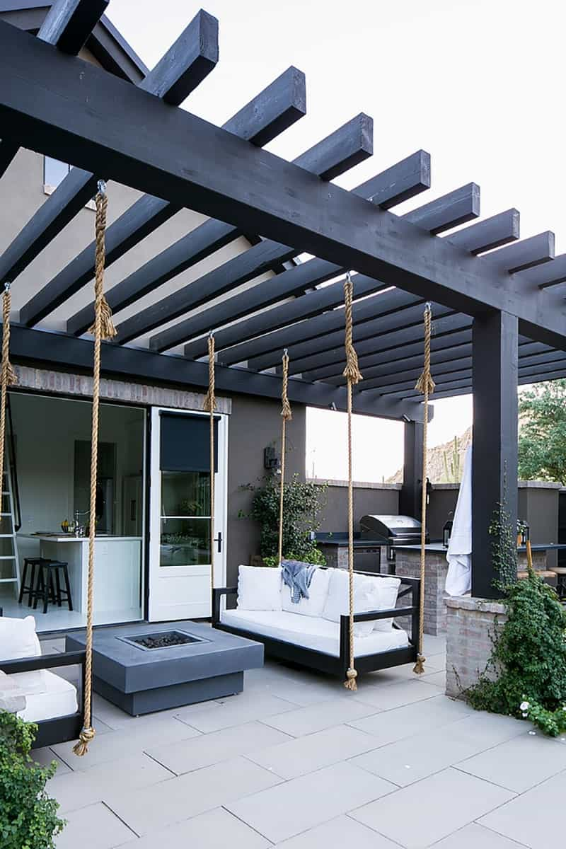 pergola-with-hanging-swing-beds-and-fire-pit