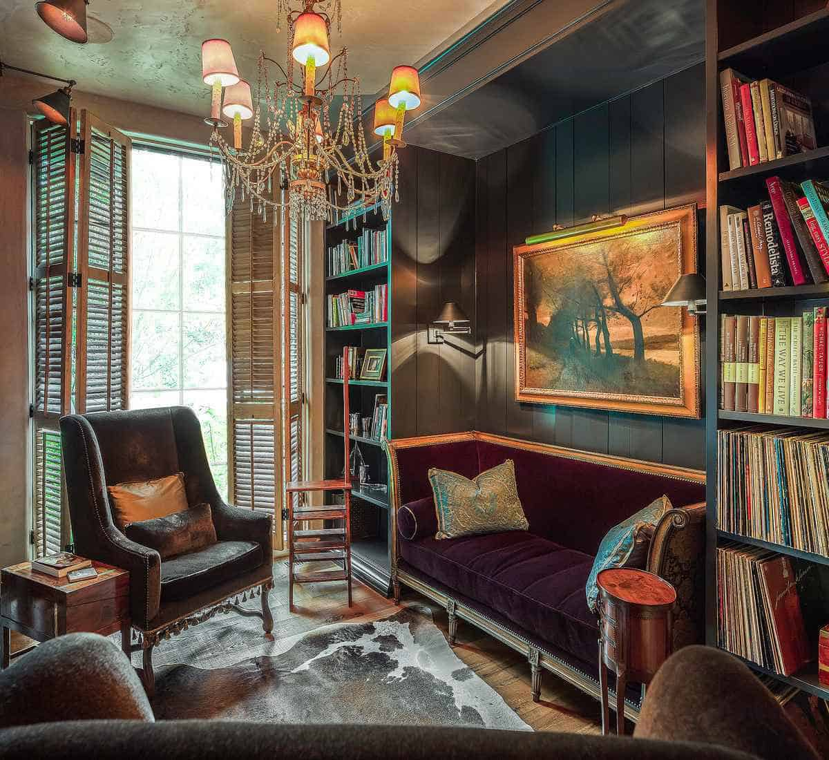 french-country-home-library