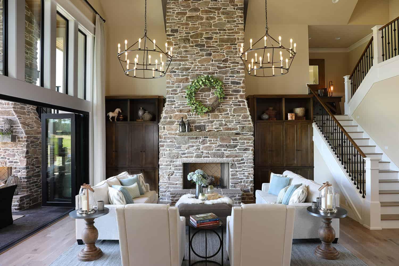 luxurious-farmhouse-living-room