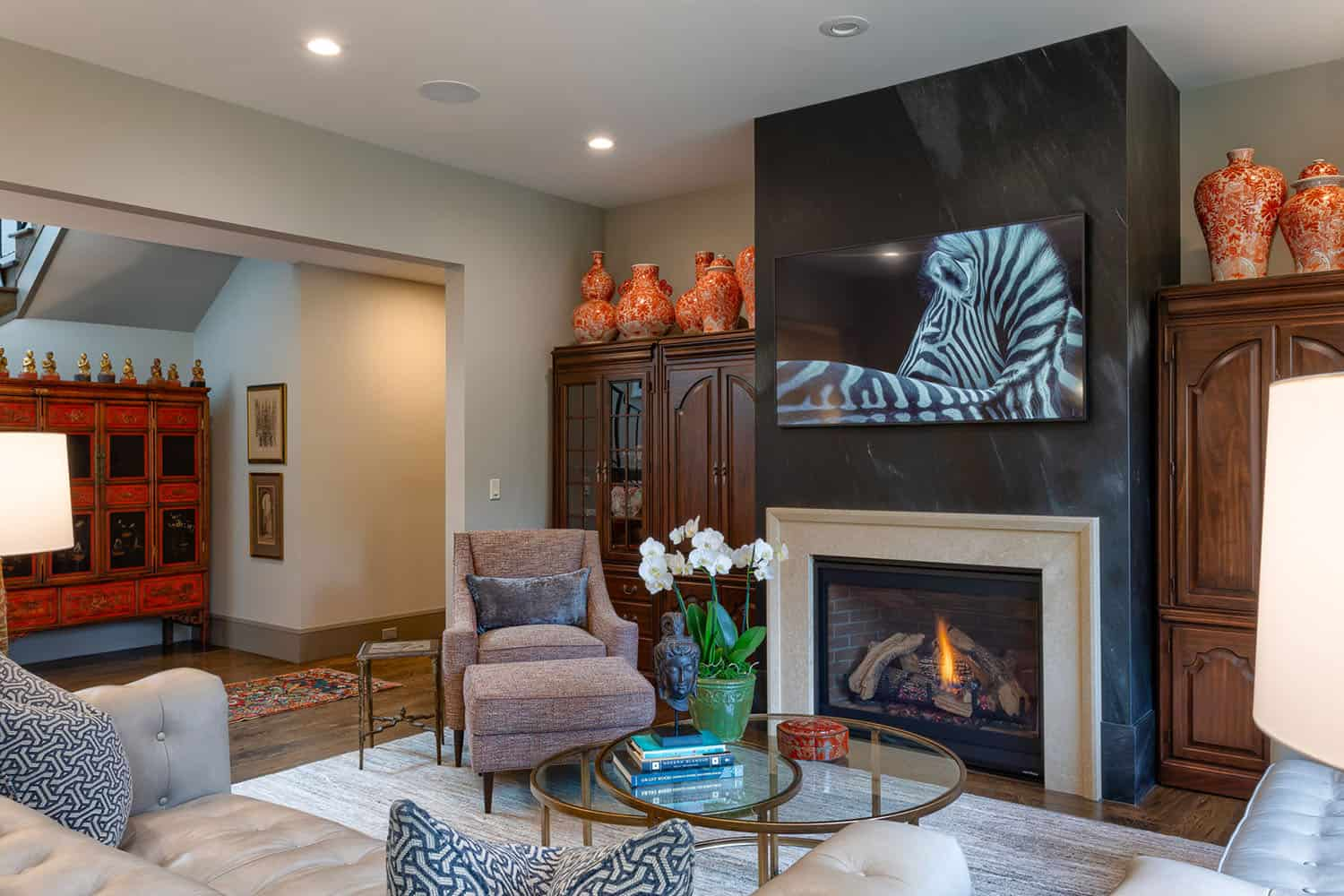 French-contemporary-family-room