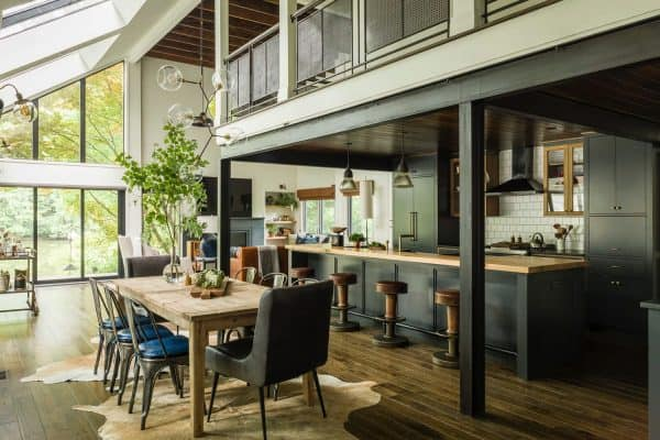 featured posts image for Gorgeous Virginia lake house gets reimagined with industrial-modern vibe