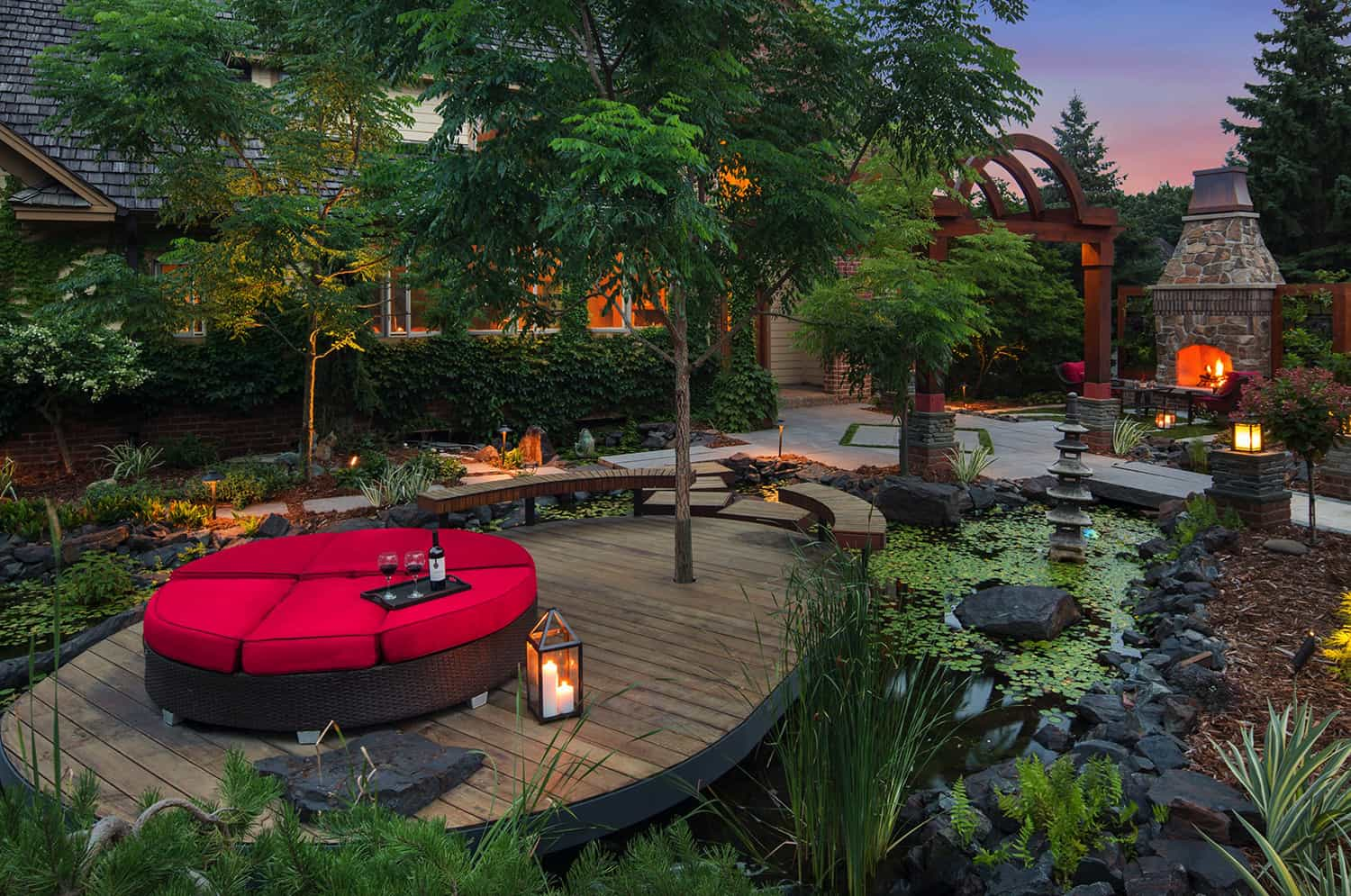 balinese-inspired-garden-with-a-pond-and-floating-deck
