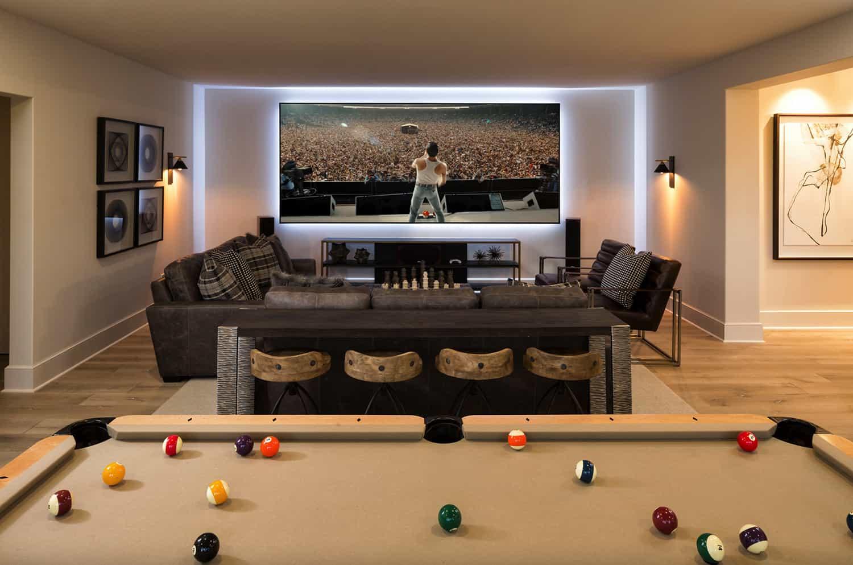 contemporary-basement-family-room