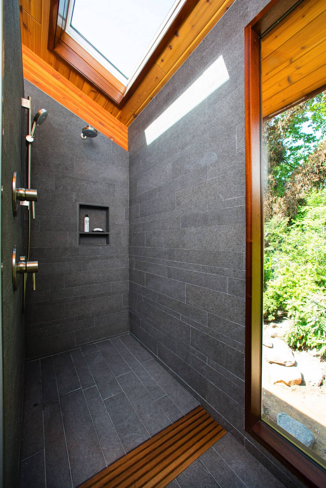 walk-in-shower-with-a-skylight