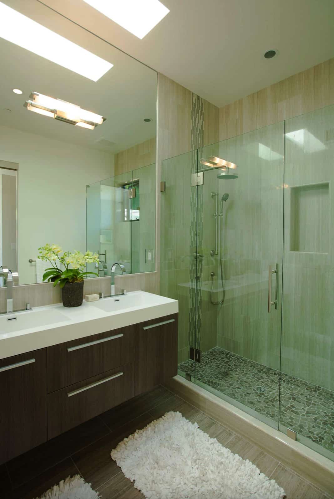 luxurious-walk-in-shower-with-a-skylight