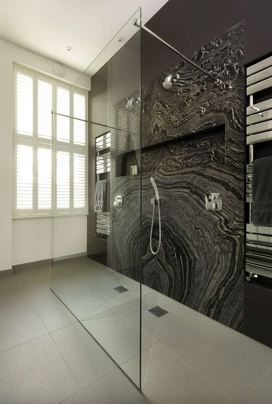 modern-walk-in-shower-with-black-marble