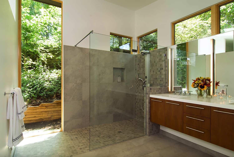 contemporary-indoor-pool-bathroom-with-walk-in-shower