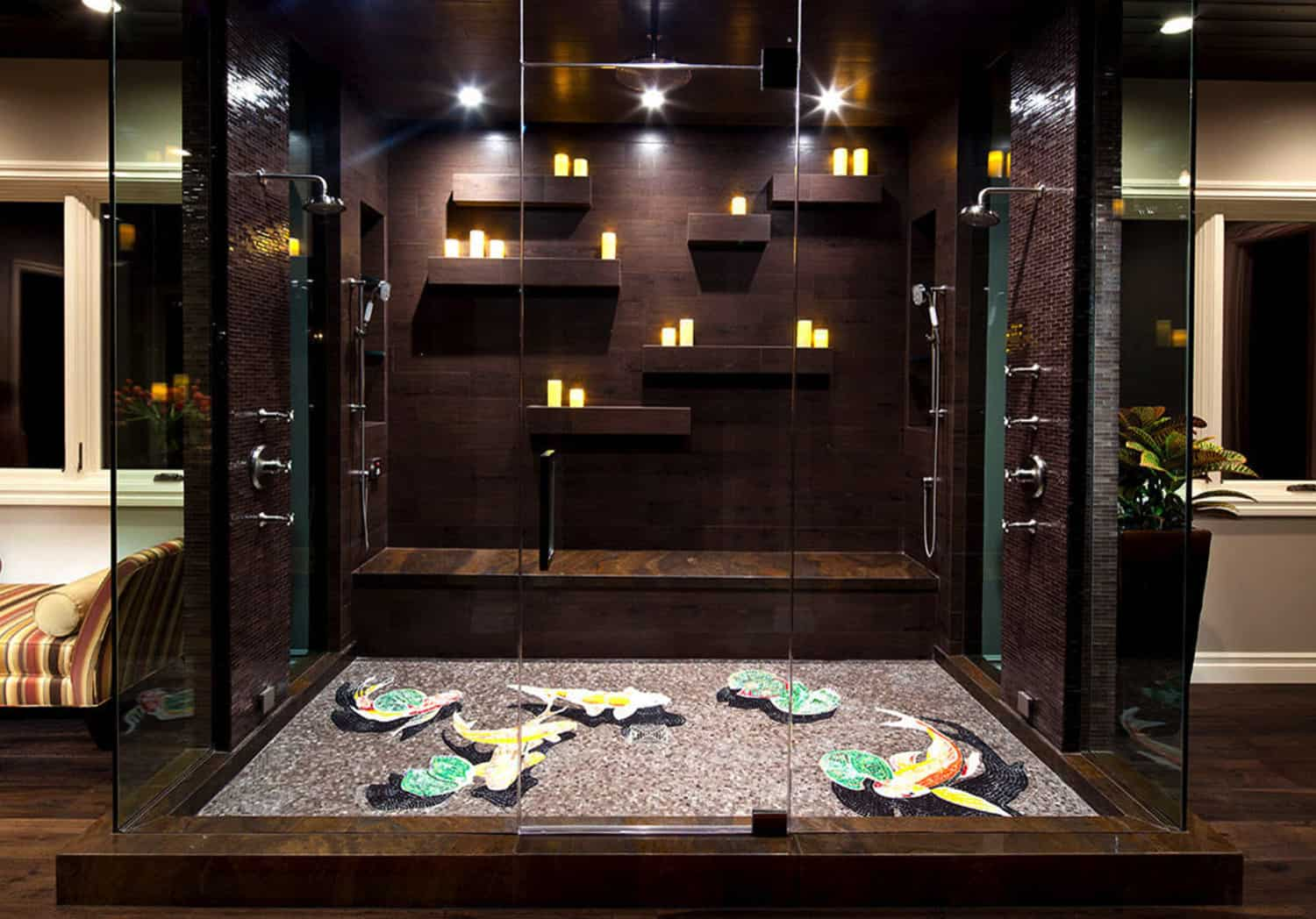 luxurious-walk-in-shower-with-contemporary-mosaic-tile