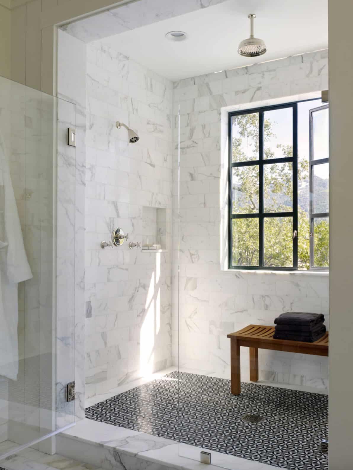 luxury-farmhouse-style-walk-in-shower
