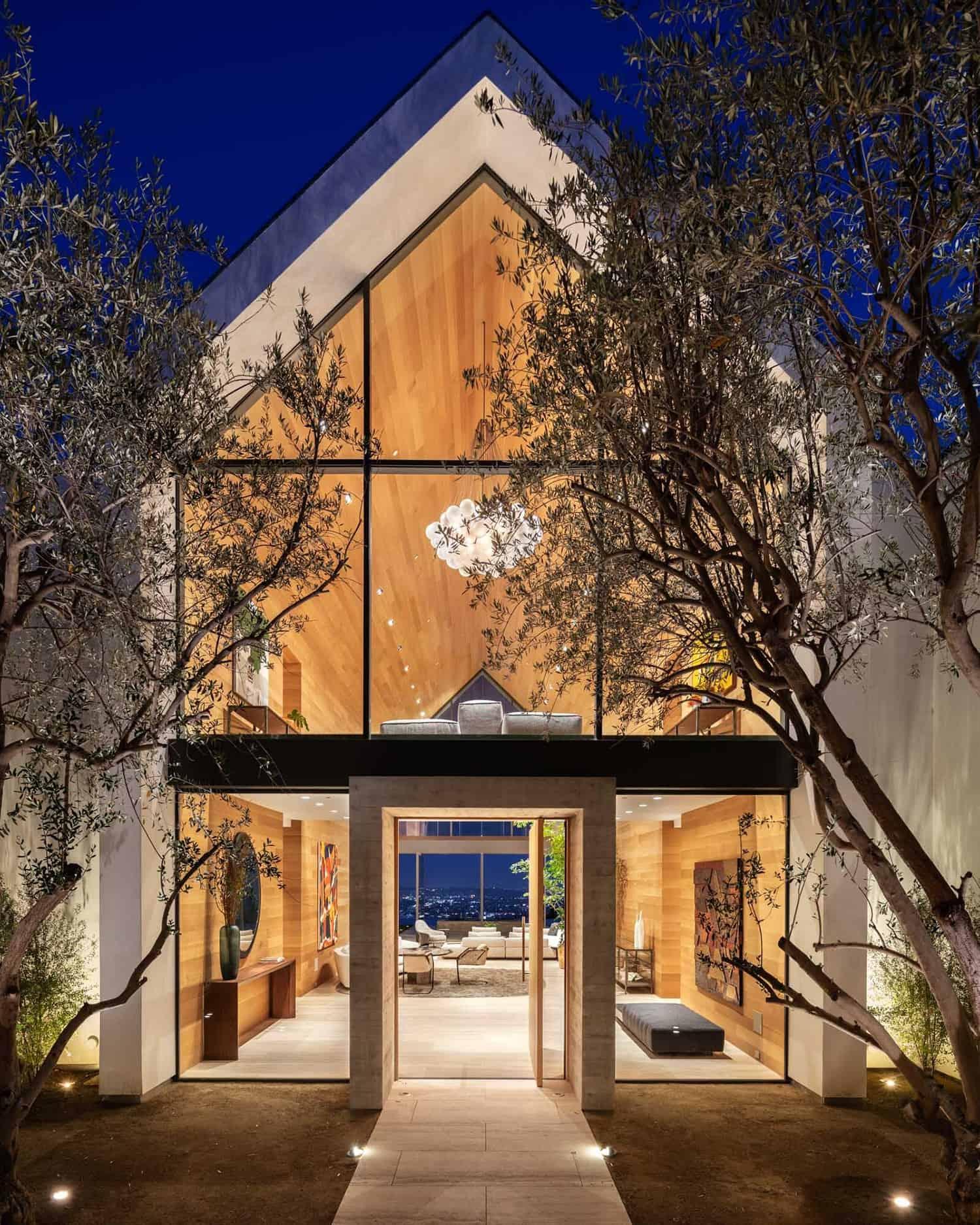 minimalistički-dom-ulaz-noć