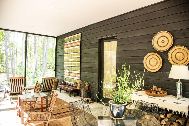 modern-sunroom-with-Shu-Sugi-Bon-siding