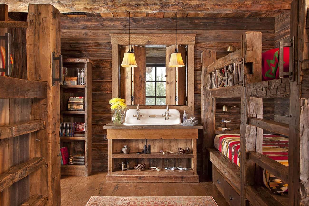 rustikalna-spavaća soba na kat sa spavaćom sobom