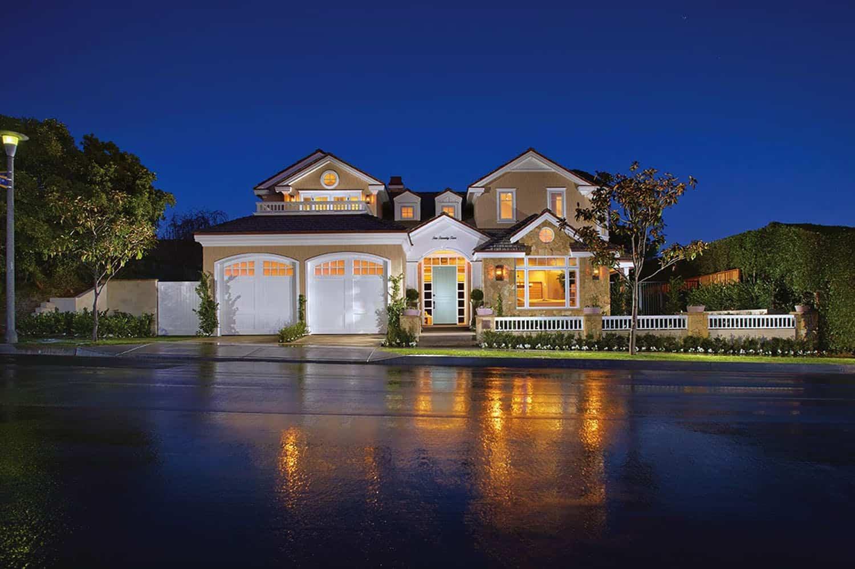 beach-style-home-exterior-night