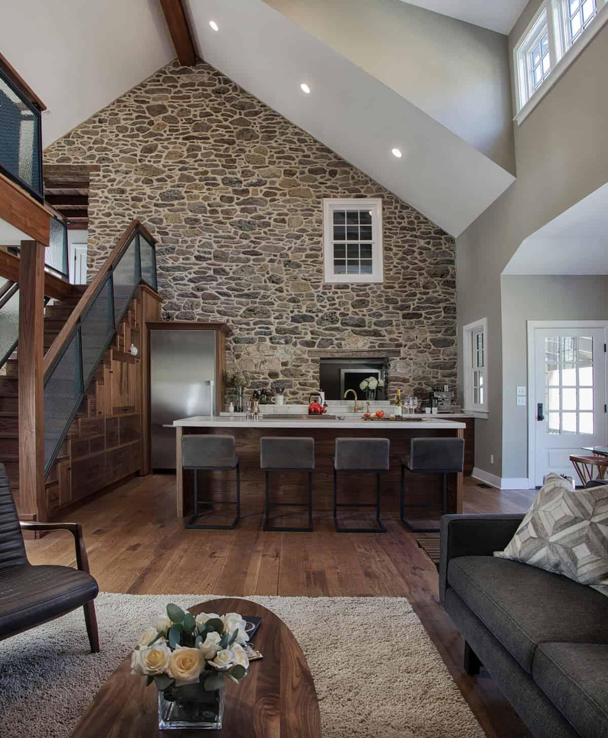 rustic-stone-wall-kitchen