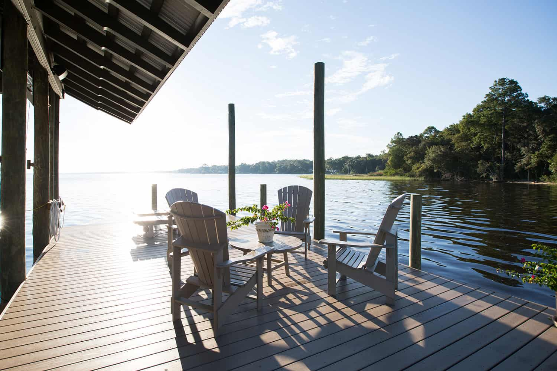 rustic-deck-waterfront