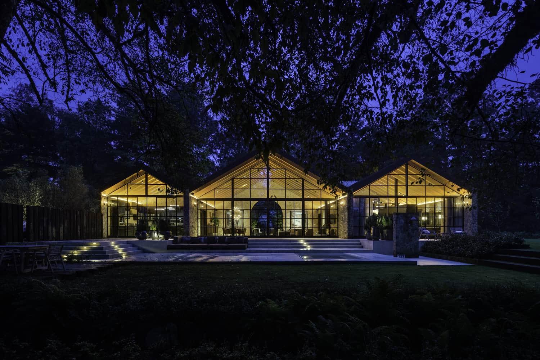 hacienda-style-home-exterior-night