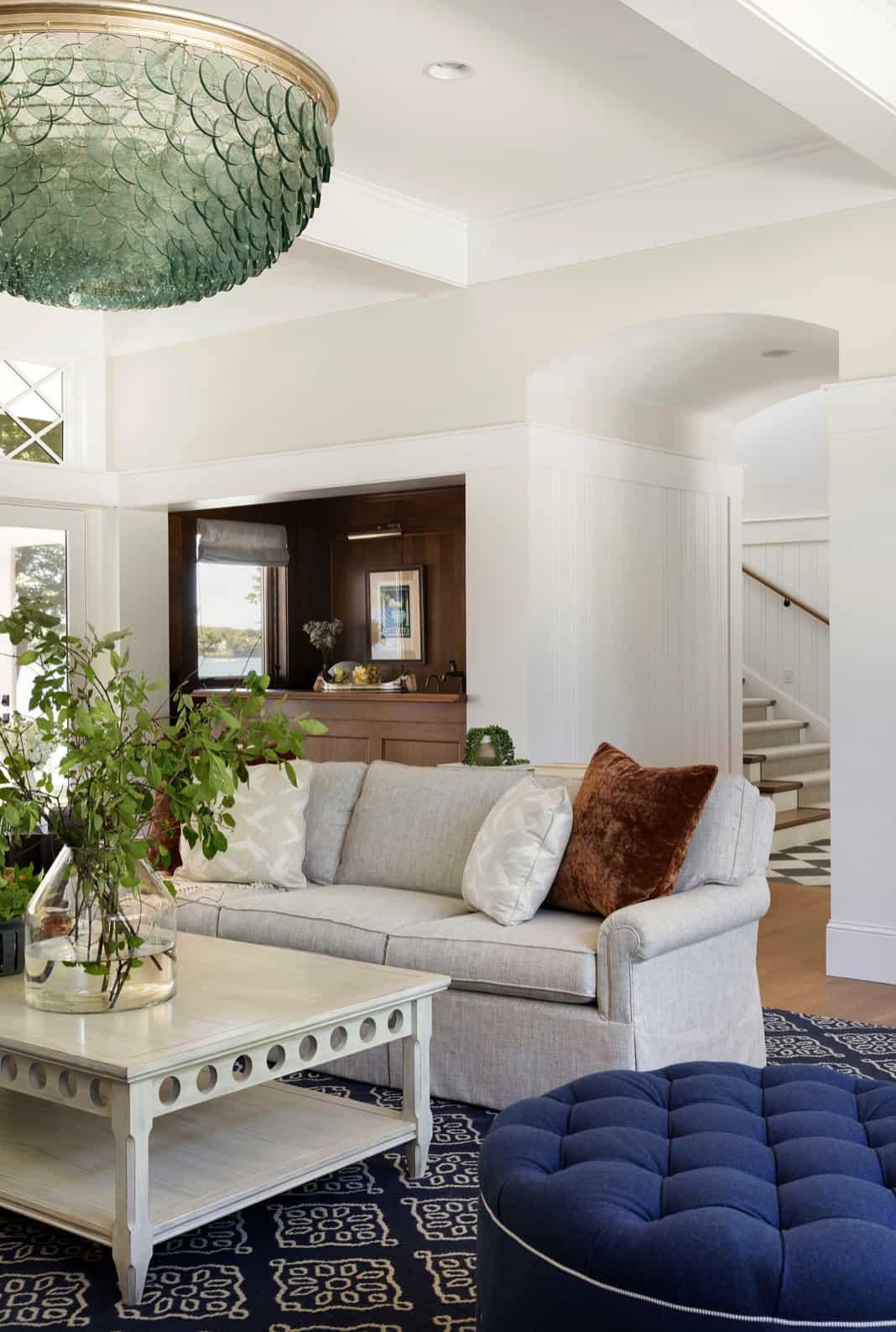 dnevna soba u stilu obalne plaže