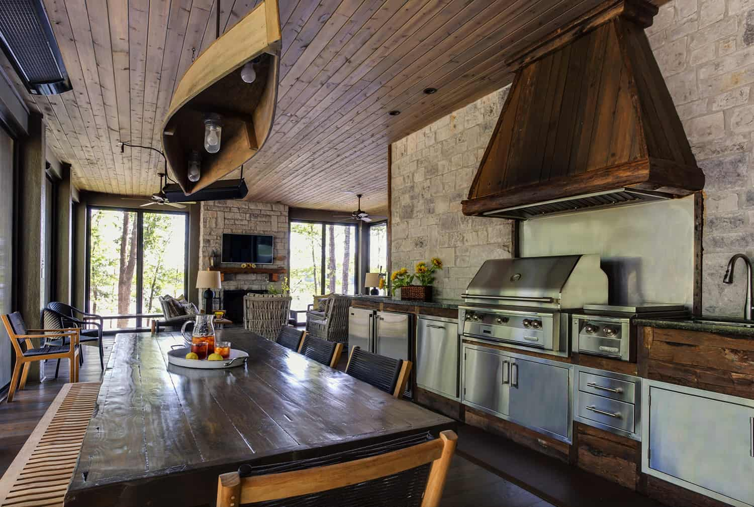 rustic-screened-porch-with-built-in-kitchen