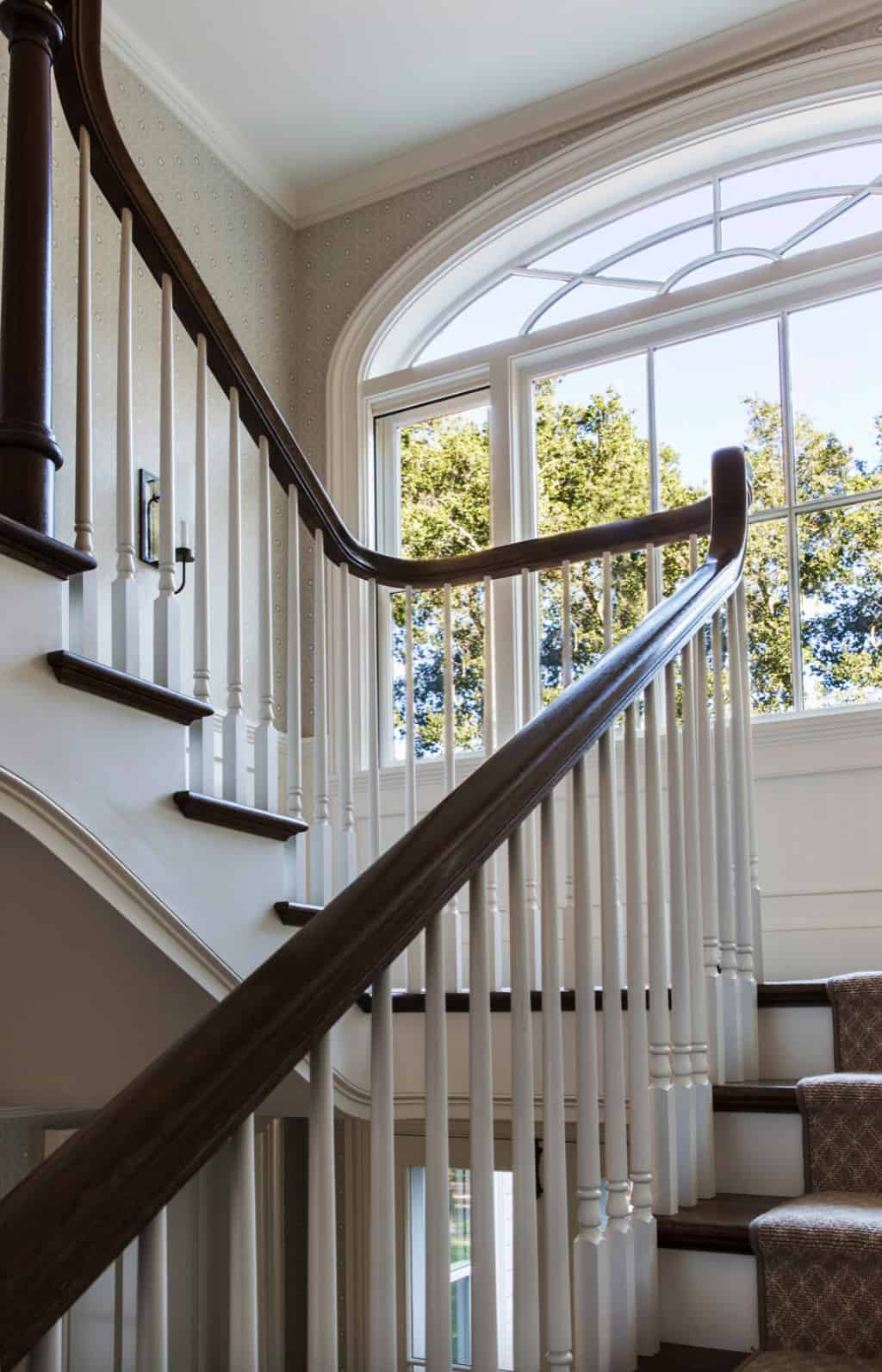 traditional-stair-landing-with-a-window