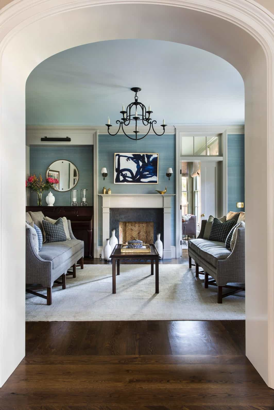 traditional-blue-living-room-with-fireplace