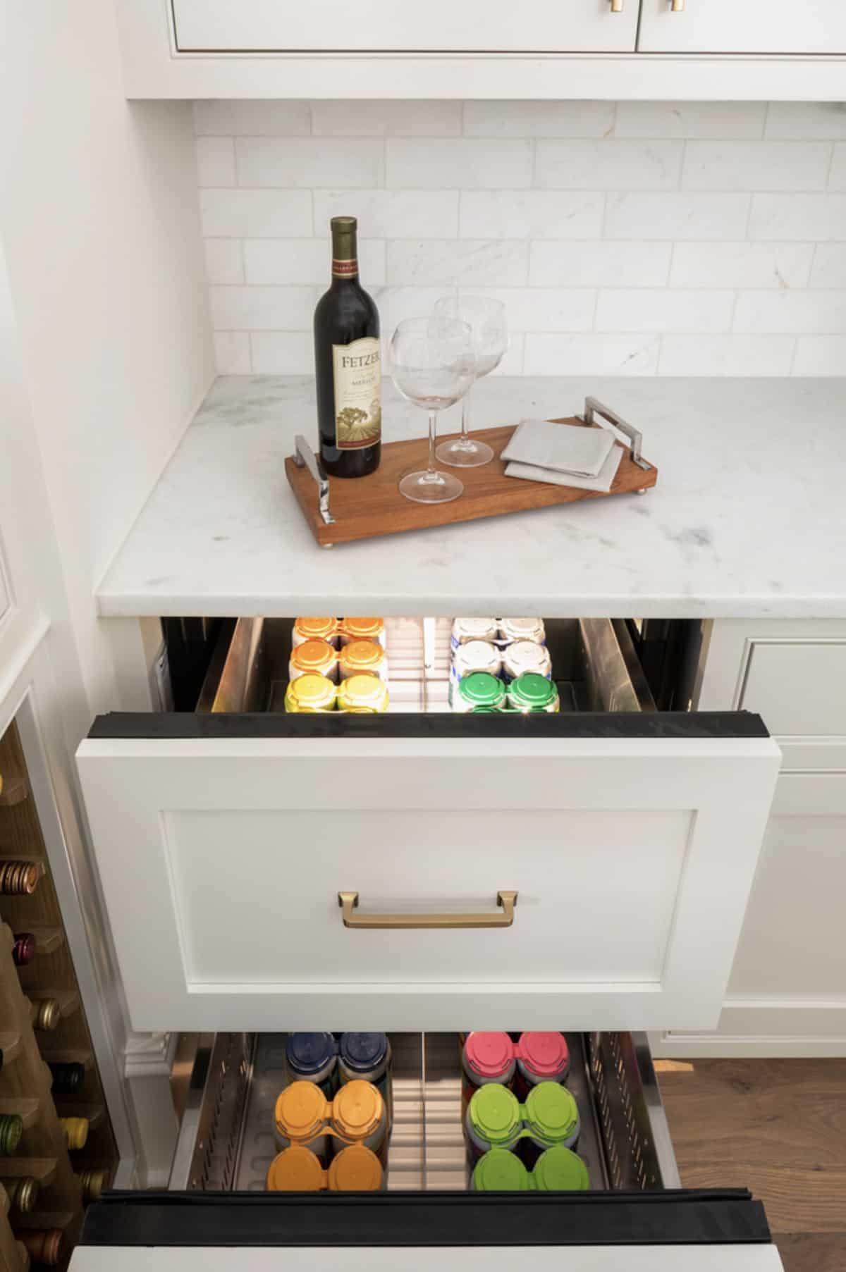 transitional-kitchen-beverage-cooler-drawer