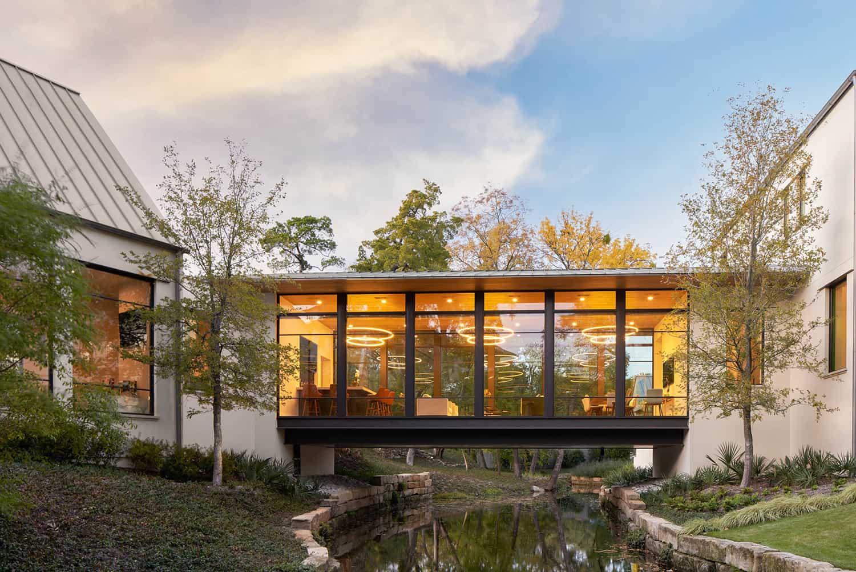 contemporary-home-exterior-bridge-over-creek