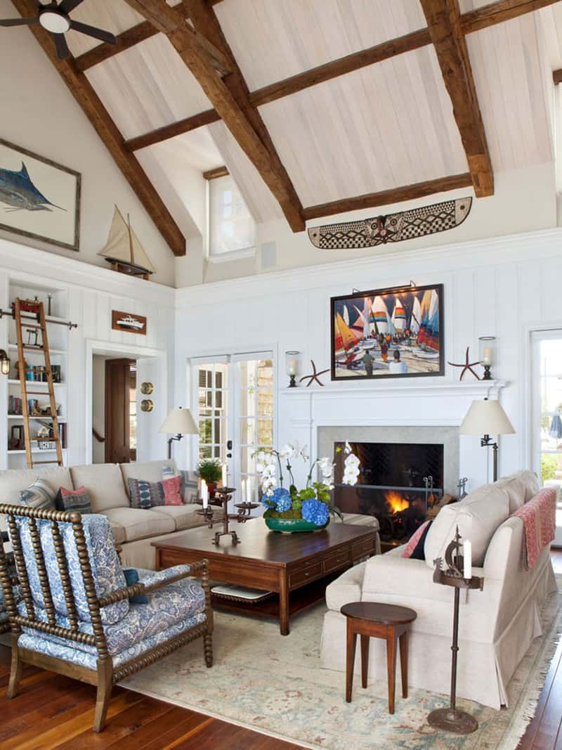 dnevna soba u stilu plaže