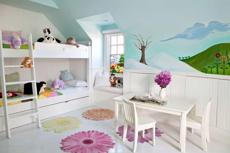 spavaća soba u krevetu u stilu djece